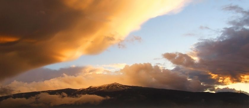 The Mountain with Clouds