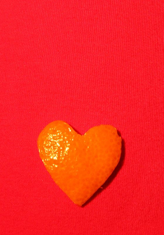 orange-heart-on-pink-garment