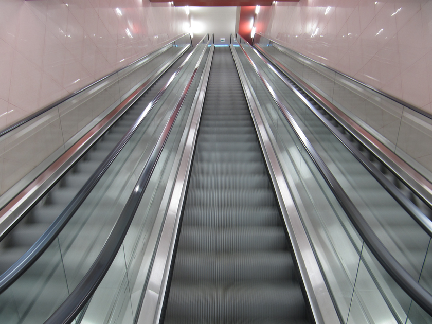 metro station escalators